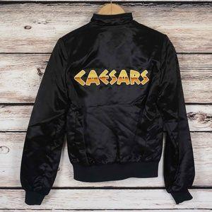 b86acb8860c1 Caesars Palace Jackets   Coats - Vintage Caesars Palace Ladies Black Satin  Jacket